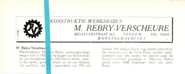 Pub Reclame Org. Knipsel Tijdschrift - Werkhuizen M. Rebry - Verscheure - Izegem -  Ca 1960 - Publicités