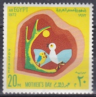 Ägypten Egypt 1972 Gesellschaft Society Familie Family Muttertag Mothers Day Mütter Vögel Birds, Mi. 1083 ** - Ungebraucht