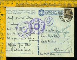 Regno WW2 Seconda Guerra Franchigia Posta Militare 3 Per Milano Località Censurata - Storia Postale