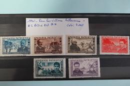 1945     -   823   à   828   **     VICTIMES  DE  LA  TERREUR  HITLERIENNE    COTE   :  7,50€ - 1918-1948 Ferdinand, Charles II & Michael