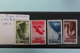 1945     -   829   à   832   **     1er  CONGRES  GENERAL  A.R.L.U.S.    COTE   :  2,80€ - 1918-1948 Ferdinand, Charles II & Michael