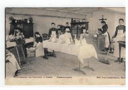 Lier: ETABLISSEMENT DES URSULINES, A LIERRE. Classe Ménagère 1906  Edit.C.Van Cortenbergh Bruxelles - Lier