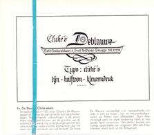 Pub Reclame Org. Knipsel Tijdschrift - Cliché's Etserij De Blauwe - Brugge -  Ca 1960 - Publicités