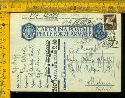 Regno WW2 Seconda Guerra Franchigia Posta Militare 210 Per Milano - Storia Postale