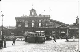 Carte Photo - Lille - Tramway - Gare En 1956 - Valenciennes