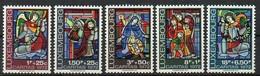 Luxemburg 1972 MiNr. 853/857  ** / Mnh ;  Caritas: Glasmalereien, Kathedrale Luxemburg - Luxembourg