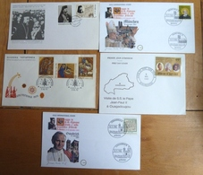5 Enveloppes FDC Europe + 1 Du BURKINA FASO - Europe (Other)