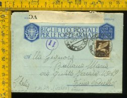 Regno WW2 Seconda Guerra Franchigia Posta Militare 29 Per Trino Vercellese Vercelli - Storia Postale
