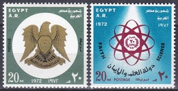 Ägypten Egypt 1972 Geschichte History Revolution Wappen Arms Wissenschaft Science Frieden Peace, Mi. 1094-5 ** - Ägypten