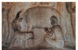 India, Mahabalipuram, Govardhangirl Cave Panel, Unused - Inde