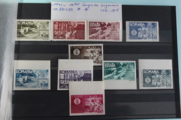 1945     -   872  à   881   **     12ème  CONGRES  DES  INGENIEURS  ROUMAINS       COTE   : 15,00€ - 1918-1948 Ferdinand, Charles II & Michael