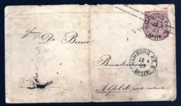 ENTIER POSTAL ALLEMAGNE SUR LETTRE- HAMBOURG 1869- TIMBRE ROSE 1 Gr- 2 SCANS - Hambourg