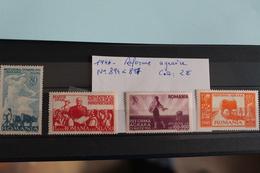 1946     -   894  à   898   **     REFORME  AGRAIRE       COTE   : 2,50€ - 1918-1948 Ferdinand, Charles II & Michael