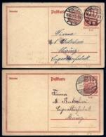 2 ENTIERS ALLEMAGNE  DONT 1 AVEC 2 ENTIERS- POSTKARTE EMPIRE- 1921-1922- 40 Pf ET 40 + 85 Pf. - Lettres & Documents