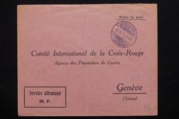 ALLEMAGNE - Enveloppe En Franchise De Weissensee Pour La Croix Rouge à Genève En 1915 - L 21237 - Germany