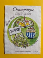 9740 - Champagne 1998 Suisse Dessin De Bürki D'aprèa Uderzo  Un Irréductible Petit Village.... - Etiquettes