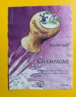 9741 - Champagne 1998 Suisse Dessin De Bürki - Etiquettes