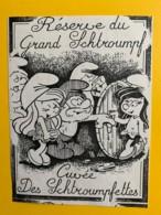 9744 - Réserve Du Grand Schtoumpf Cuvée Des Schtroupfettes Vin Inconnu - Etiquettes
