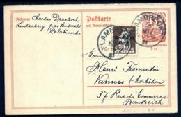 ENTIER POSTAL DOUBLE 40 Pf + TIMBRE 40 Pf ALLEMAGNE SURCHARGÉ -1921 POUR FRANCE +CARTE REPONSE 40 Pf 2 SCANS - Lettres & Documents