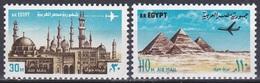 Ägypten Egypt 1972 Kultur Weltkulturerbe Heritage Bauwerke Buildings Türme Towers Pyramiden Pyramids, Mi. 1114-5 ** - Ungebraucht