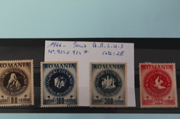 1946     -   921  à   924   *     SERIE   A.R.L.U.S.    COTE   :   2,00€ - 1918-1948 Ferdinand, Charles II & Michael