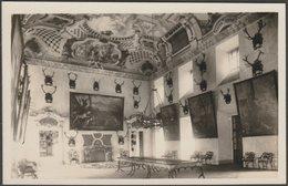 Hlavní Sál V Loveckém Zámku, Ohrady, Hluboká Nad Vltavou, C.1920s - Wolff Foto Dopisnice - Czech Republic