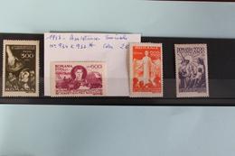 1947     -   930  à   933   *     ASSISTANCE  SOCIALE    COTE   :   2,00€ - 1918-1948 Ferdinand, Charles II & Michael