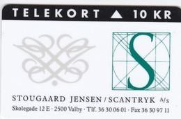 Denmark, KP 108, Stougaard Jensen & Scantryk, Only 1.250 Issued, 2 Scans - Denmark