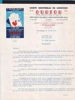 """Facture + Enveloppe Anciennes Illustrées.  Sté Industrielle De Confection """"DURFOR"""" à St Georges Flers (61) - Textile & Vestimentaire"""
