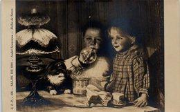 Art - Peintre André Schlomka - Salon De 1911 - Bulles De Savon - Enfants - Chat - Peintures & Tableaux