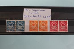 1947     -   975E  à   975C   **     1er     CONGRES  DE  L  '  UNION  SYNDICALE  ROUMAINE             COTE   :   3,50€ - 1918-1948 Ferdinand, Charles II & Michael