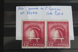 1947     -   987 **     JOURNEE  DE  L  '  EPARGNE           COTE   :   1,60€ - 1918-1948 Ferdinand, Charles II & Michael