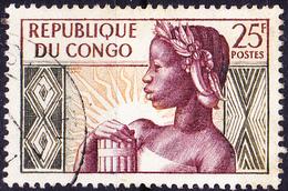Kongo-Brazzaville - 1. Jahrestag Der Staatsgründung (Mi.Nr.: 1) 1959 - Gest Used Obl - Oblitérés