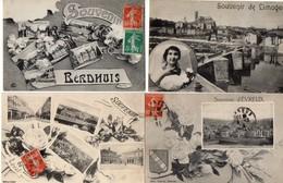 Superbe Gros LOT 215 CPA France Souvenir Ville Village Animation Multi Vues Rare Extra No Album - Cartes Postales