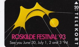 Denmark, KS 016, Roskilde Festival '93, Only 10.000 Issued. 2 Scans. - Denmark