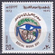 Ägypten Egypt 1972 Gesellschaft Tag Der Arbeit Work Mythologie Mythology Auge Des Horus, Mi. 1116 ** - Ungebraucht