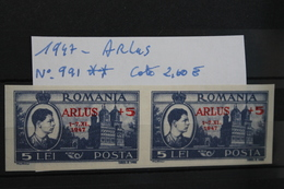 1947     -   991 **     TIMBRE  DE  1947  SURCHARGE    A.R.L.U.S.         COTE   :   2,60€ - 1918-1948 Ferdinand, Charles II & Michael