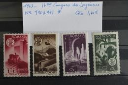 1947     -   992   à   995 *     17ème   CONGRES      DES  INGENIEURS  ROUMAINS        COTE   :   1,60€ - 1918-1948 Ferdinand, Charles II & Michael
