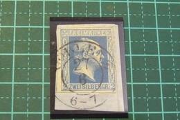 Allemagne - Anciens Etats - Prusse - Yvert N° 7  Oblitéré Sur Fragment - Voir Scan Et Description - Prussia