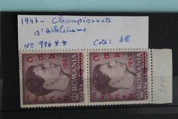 1947     -   996 **     TIMBRE  DE  1947  SURCHARGE   C.B.A.        COTE   :   3,00€ - 1918-1948 Ferdinand, Charles II & Michael