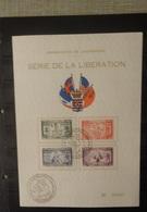 Luxemburg 1945   Herdenkingsblad Met Reeks  Nr. 343 - 346   Zie Foto - Commemoration Cards