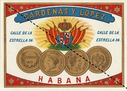 Fin 1800 étiquette Boite à Cigare SOFIA - Etichette