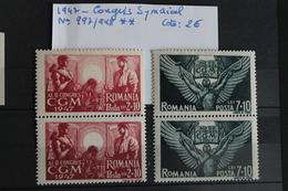 1947     -   997    998 **     2ème  CONGRES  DE  L  '  UNION  SYNDICALE  ROUMAINE      COTE   :   2,00€ - 1918-1948 Ferdinand, Charles II & Michael