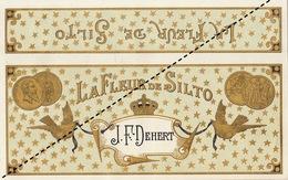 Fin 1800 étiquette Boite à Cigare LA FLEUR DE SILTO - Etiquettes