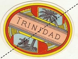 Fin 1800 étiquette Boite à Cigare TRINIDAD - Etiquettes