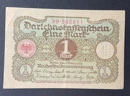 EBN5 - Germany Weimar Republic 1920 Banknote 1 Mark Pick 58 - [ 3] 1918-1933 : Weimar Republic