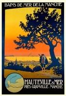 France Travel Postcard Hauteville S Mer 1925 - Reproduction - Pubblicitari