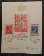 Luxemburg 1945   Herdenkingsblad 'Pour Les Pouvre'    Genummerd    Zie Foto - Commemoration Cards