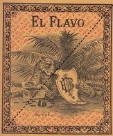 Fin 1800 étiquette Boite à Cigare EL FLAVO - Etichette