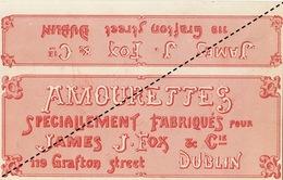 Fin 1800 étiquette Boite à Cigare AMOURETTES - Etiquettes
